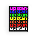 """be upstander"" upstander Journal - Blank (rainbow all over print)"