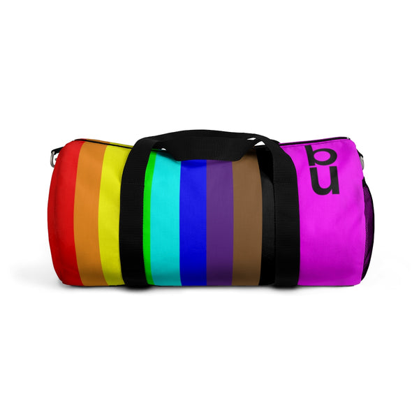 be you candy stripe rainbow Duffle Bag