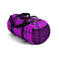 """be bear"" be bear Duffle Bag (pink and purple all over graphic)"