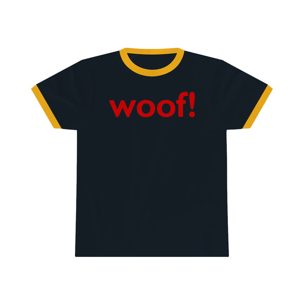 woof! all gender Ringer Tee up to 4XL