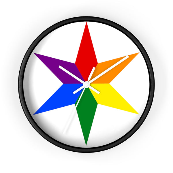 chicago pride star Wall clock