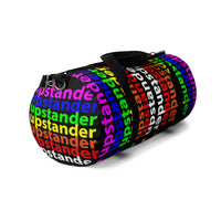 """be upstander"" upstander Duffle Bag (rainbow all over graphic)"