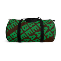 """be bear"" be bear Duffle Bag (green and brown all over graphic)"
