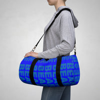 """be bear"" Duffle / gym Bag (blue and blue all over graphic)"