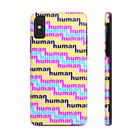human just like you cmyk on pink Case Mate Tough Phone Cases
