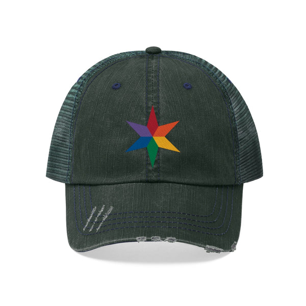 Chicago pride star all gender Trucker Hat