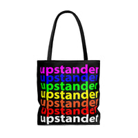 """be upstander"" upstander AOP Tote Bag (rainbow all over graphic)"