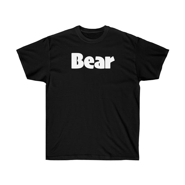 BEAR Unisex Ultra Cotton Tee (white graphic) up to 5XL