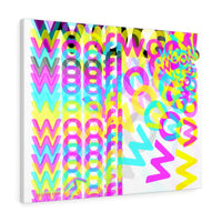 woof! cmyk print on Canvas limited to 100. #007/100