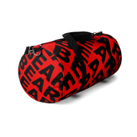 """be bear"" Duffle / gym Bag (red and black graphic)"