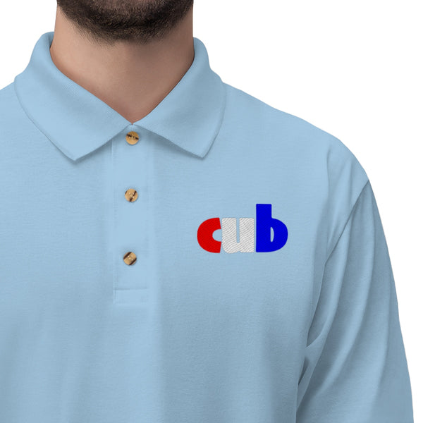 embroidered CUB Men's Jersey Polo Shirt up to 5XL