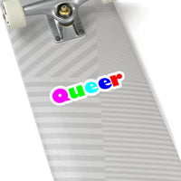 Queer Kiss-Cut Stickers available in 4 sizes