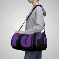 custom dark purple and black pup Duffle Bag V2