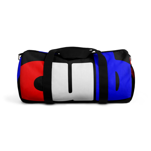custom duffle cub Duffle Bag red white and blue