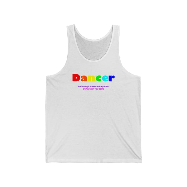 Dancer all gender Jersey Tank funty tank rainbow graphic