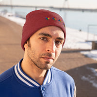 Chicago 4 star rainbow pride hat Knit Beanie
