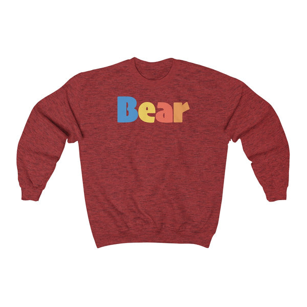 """summer bear"" all gender Heavy Blend™ Crewneck Sweatshirt up to 5XL"