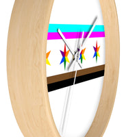 Chicago pride flag Wall clock