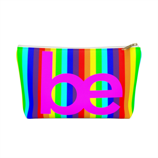 series be Accessory Pouch w T-bottom rainbow and pink be graphic