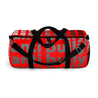 """be anti bully"" anti bully Duffle Bag (white black red all over graphic)"