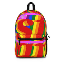 stan pride Backpack (Made in USA) rainbow print.