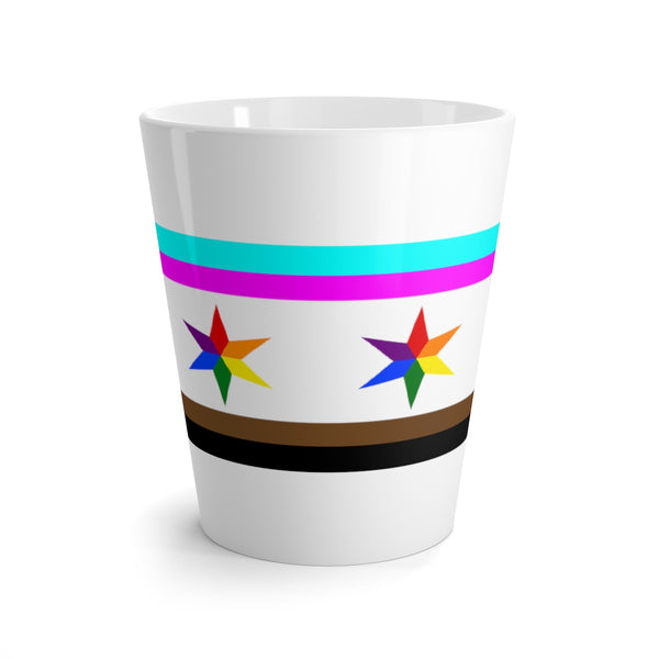 Chicago pride flag Latte mug