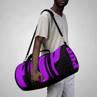 custom purple and black pup Duffle Bag V1