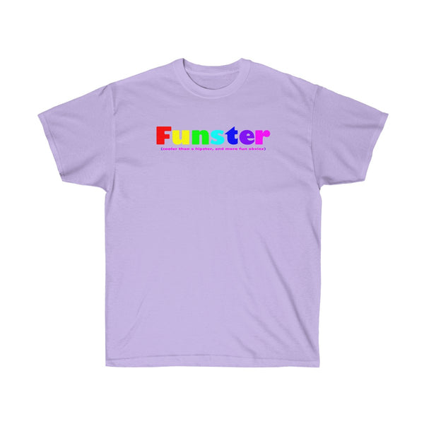 Funster all gender Ultra Cotton Tee funty rainbow graphic shirt