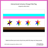 Classic & 2020 edition Intersectional Inclusive Pride Flags (get loud, get proud, start early 25% off pride flags at check out, through May 10)