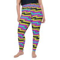 human just like you cmyk All-Over Print Plus Size Leggings