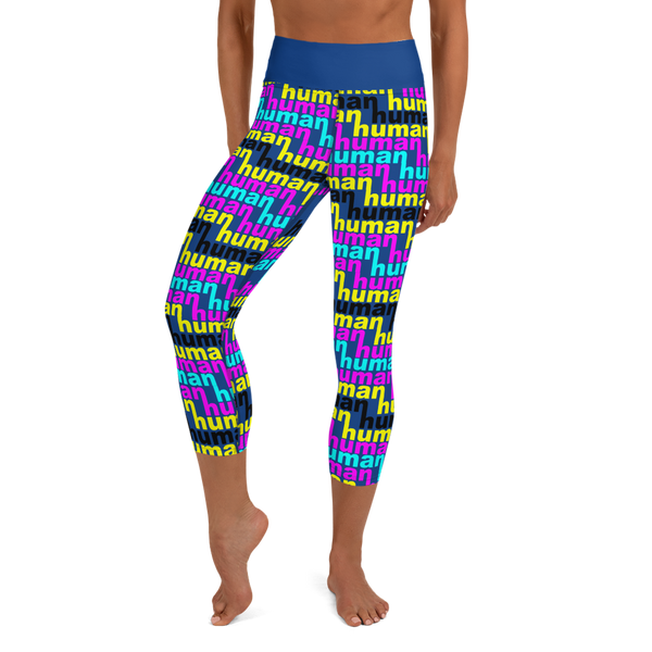human just like you cmyk Yoga Capri Leggings