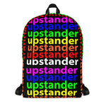 """be upstander"" upstander Backpack (rainbow all over print graphic)"