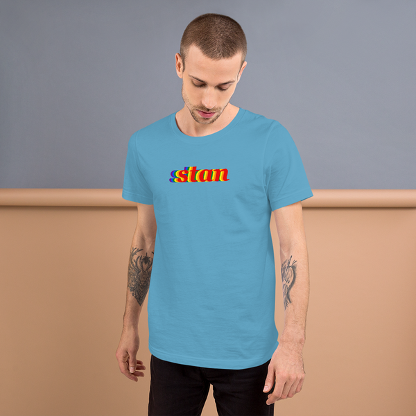stan pride all gender T-Shirt be stan! rainbow print.