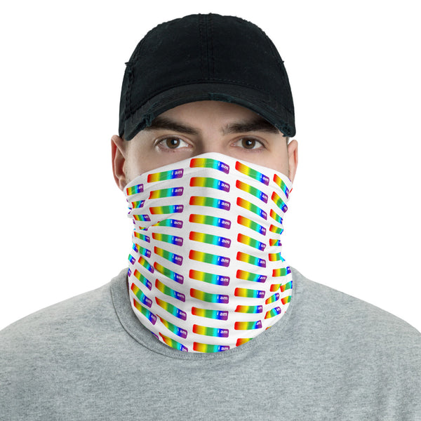 i am pride colors face mask bike / run / shop / live / be human / be safe