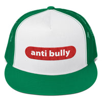 anti bully Trucker Cap (red and white embroidery)
