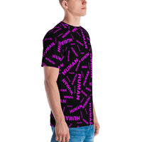 human Men's T-shirt (pink and black all over graphic)