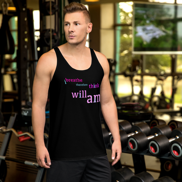 i breath therefore i think i will i am all gender Tank Top stay curious, be wonderful.