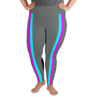 Chicago inclusive intersectional pride flag All-Over Print Plus Size Leggings