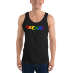 Be BEAR! all gender  Tank Top Be BEAR! in rainbow