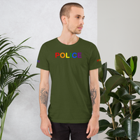 custom pride police T-Shirt printed front back and both sleeves