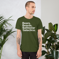 Bears. Beards. BSG all gender T-Shirt up to 4XL