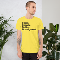 Bears. Beards. Bellies. Boardgames. all gender T-Shirt up to 4XL