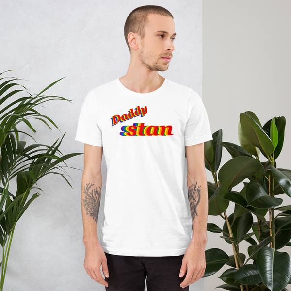 daddy stan pride all gender T-Shirt we daddy stan!1 be daddy stan!! rainbow print.