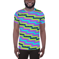 human just like you cmyk All-Over Print Men's Athletic T-shirt