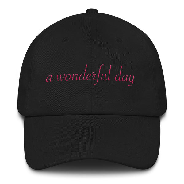 a wonderful day Dad hat (pink embroider cursive))