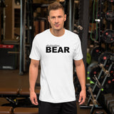 """destination bear"" Short-Sleeve Unisex T-Shirt (black and grey graphic)"