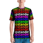 """be upstander"" upstander Men's T-shirt (all over rainbow and black graphic)"