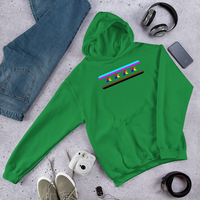 chicago pride flag Hooded Sweatshirt