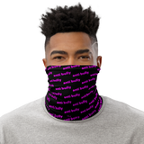 anti bully face mask, perfect for active wear, bike, run, shop, snug comfortable face fit, be safe, be you, be human! pink on black