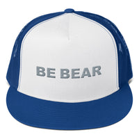 """be bear"" Trucker Cap (silver embroidery)"